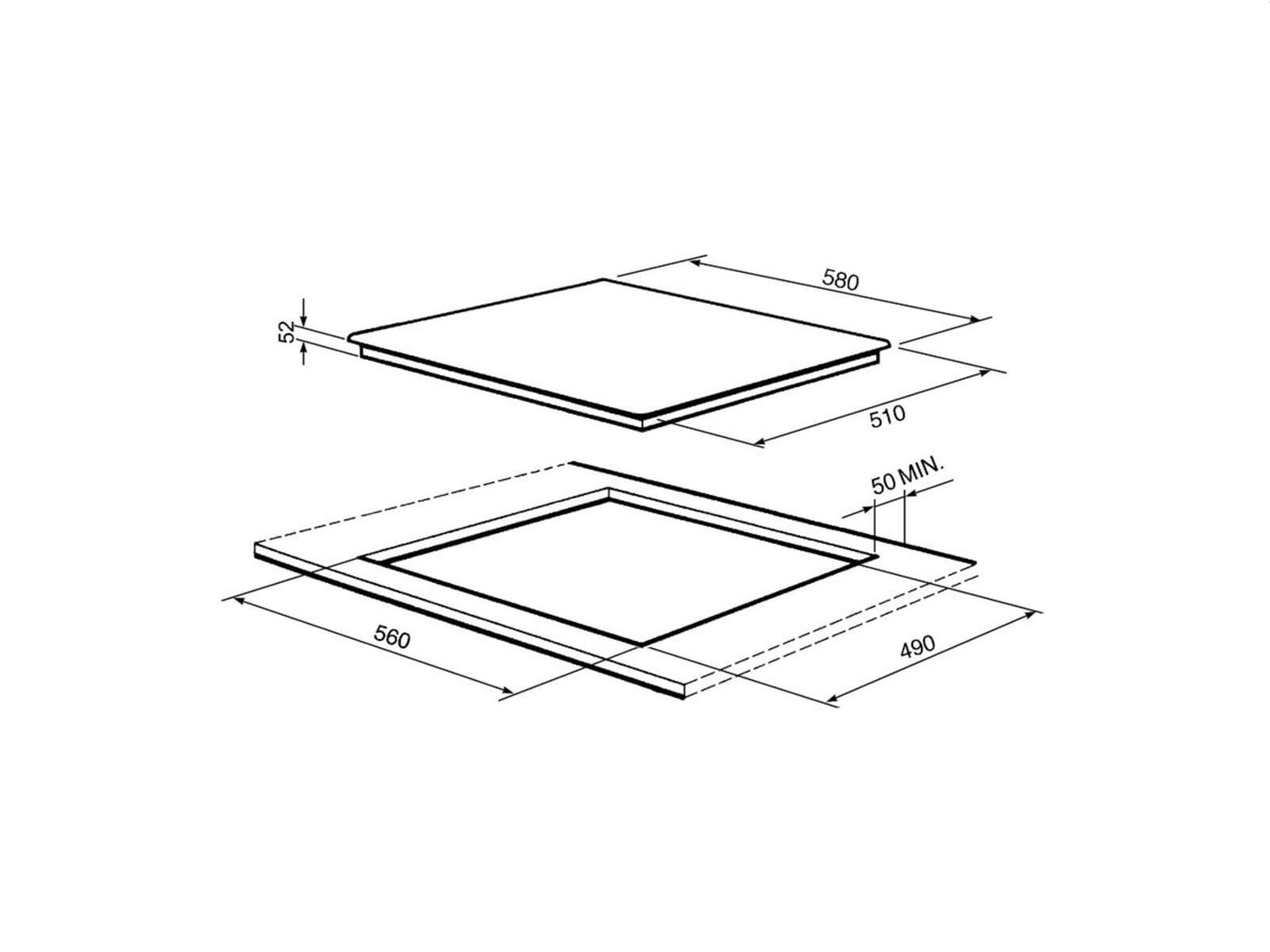 smeg sim562b induktion glaskeramikkochfeld autark. Black Bedroom Furniture Sets. Home Design Ideas