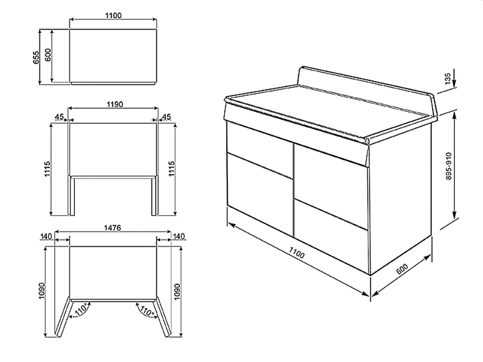 smeg tr4110ix induktion standherd edelstahl kochfeld backofen 110cm notalgie ebay. Black Bedroom Furniture Sets. Home Design Ideas