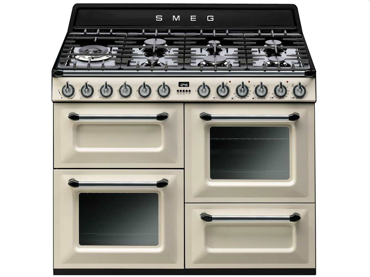 smeg tr4110pd1 gas kombi stand herd beige nostalgie gaskochfeld backofen 110cm ebay. Black Bedroom Furniture Sets. Home Design Ideas