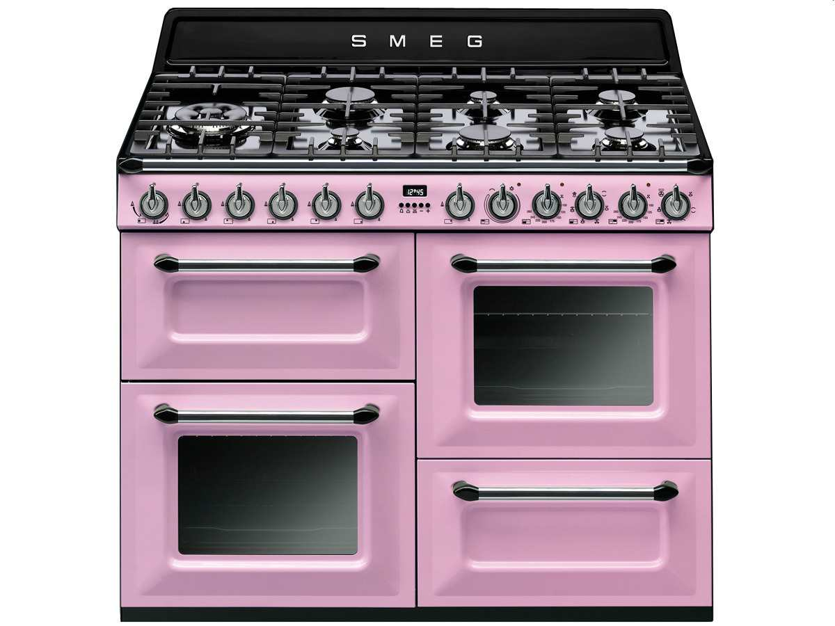 smeg tr4110rod gas kombi stand herd cadillac pink rosa. Black Bedroom Furniture Sets. Home Design Ideas