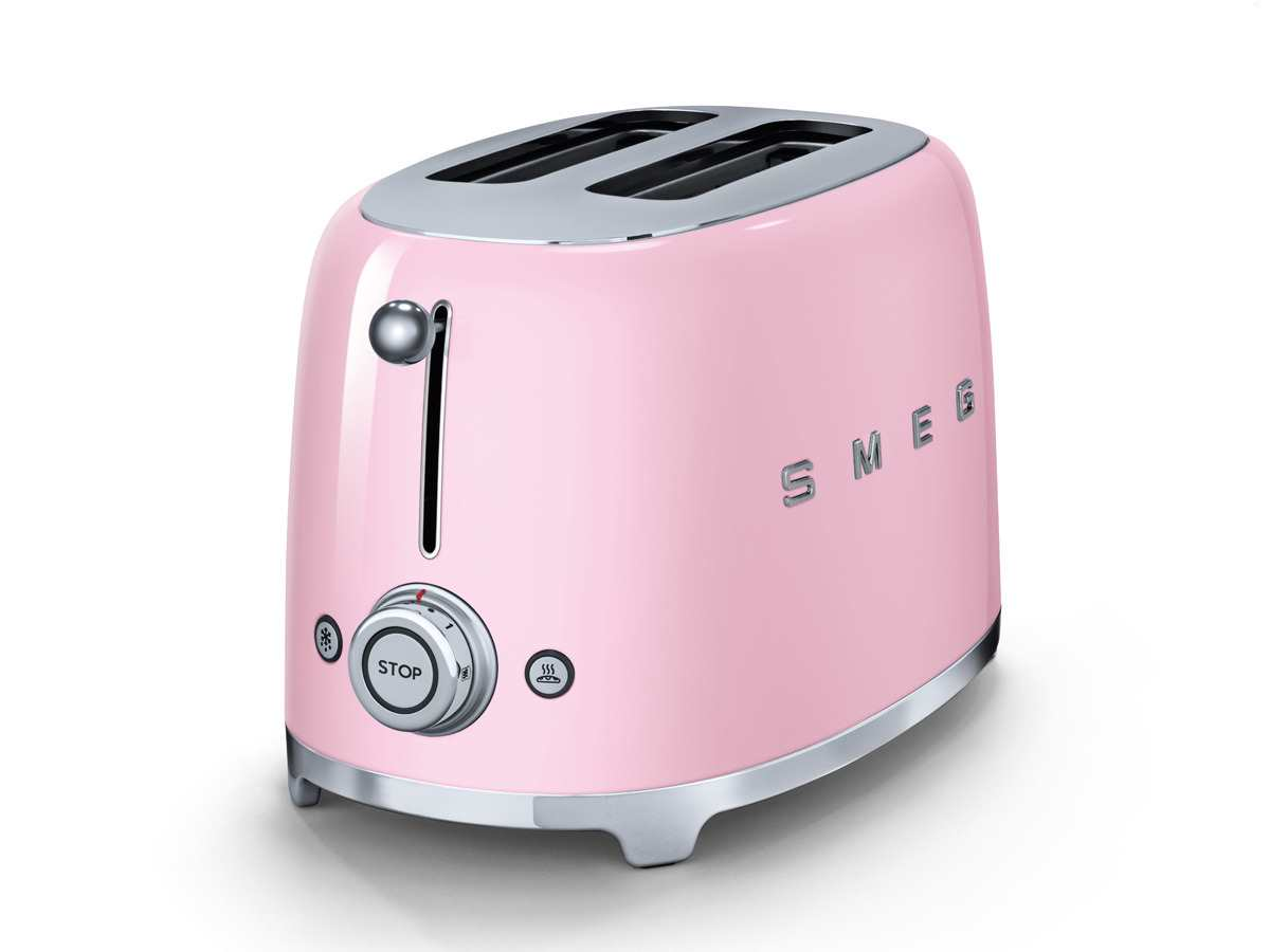 smeg tsf01pkeu 2 scheiben toaster cadillac pink rosa k che kleinger t nostalgie ebay. Black Bedroom Furniture Sets. Home Design Ideas