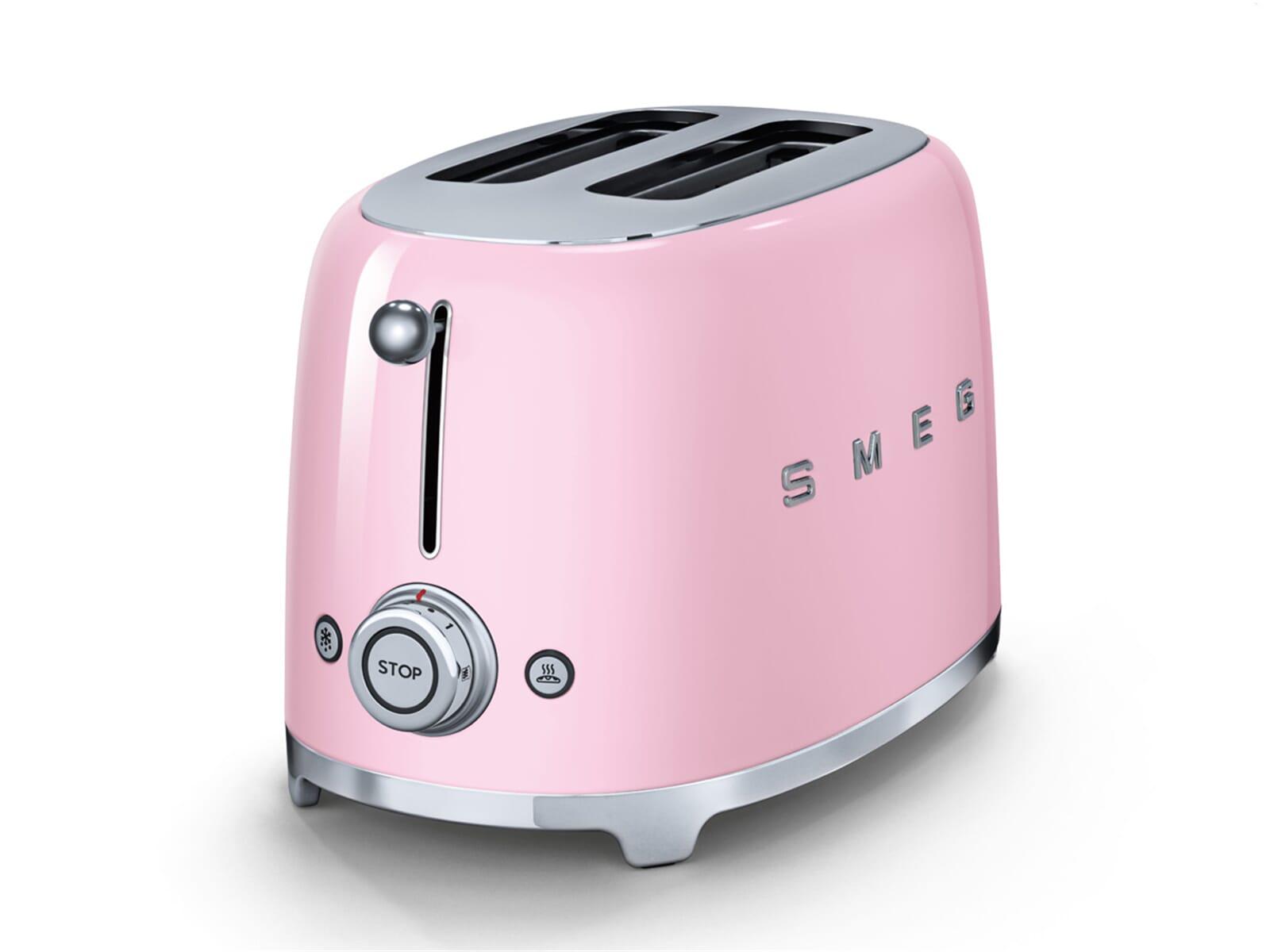 smeg tsf01pkeu 2 scheiben toaster cadillac pink f r 139 00 eur. Black Bedroom Furniture Sets. Home Design Ideas