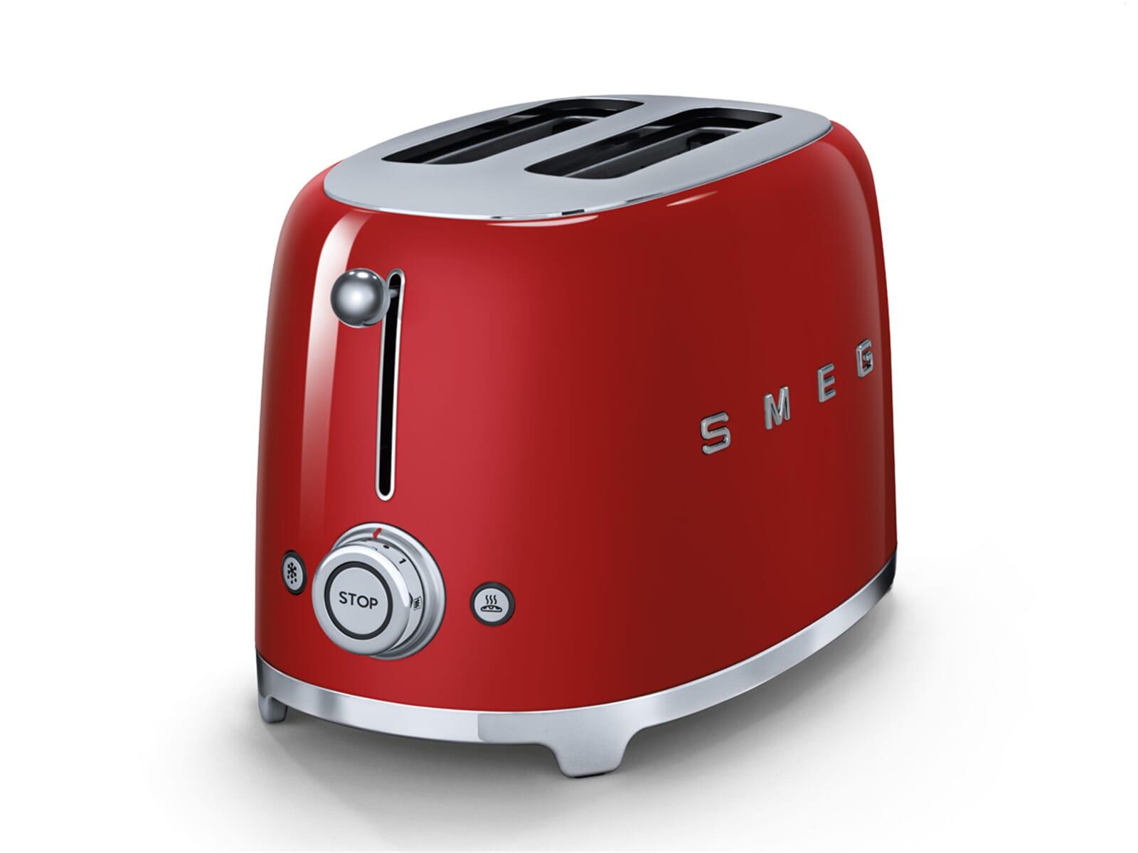 smeg tsf01rdeu 2 scheiben toaster rot f r 139 00 eur. Black Bedroom Furniture Sets. Home Design Ideas