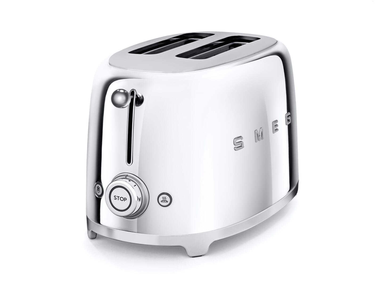 smeg tsf01sseu 2 scheiben toaster chrome f r 169 00 eur. Black Bedroom Furniture Sets. Home Design Ideas