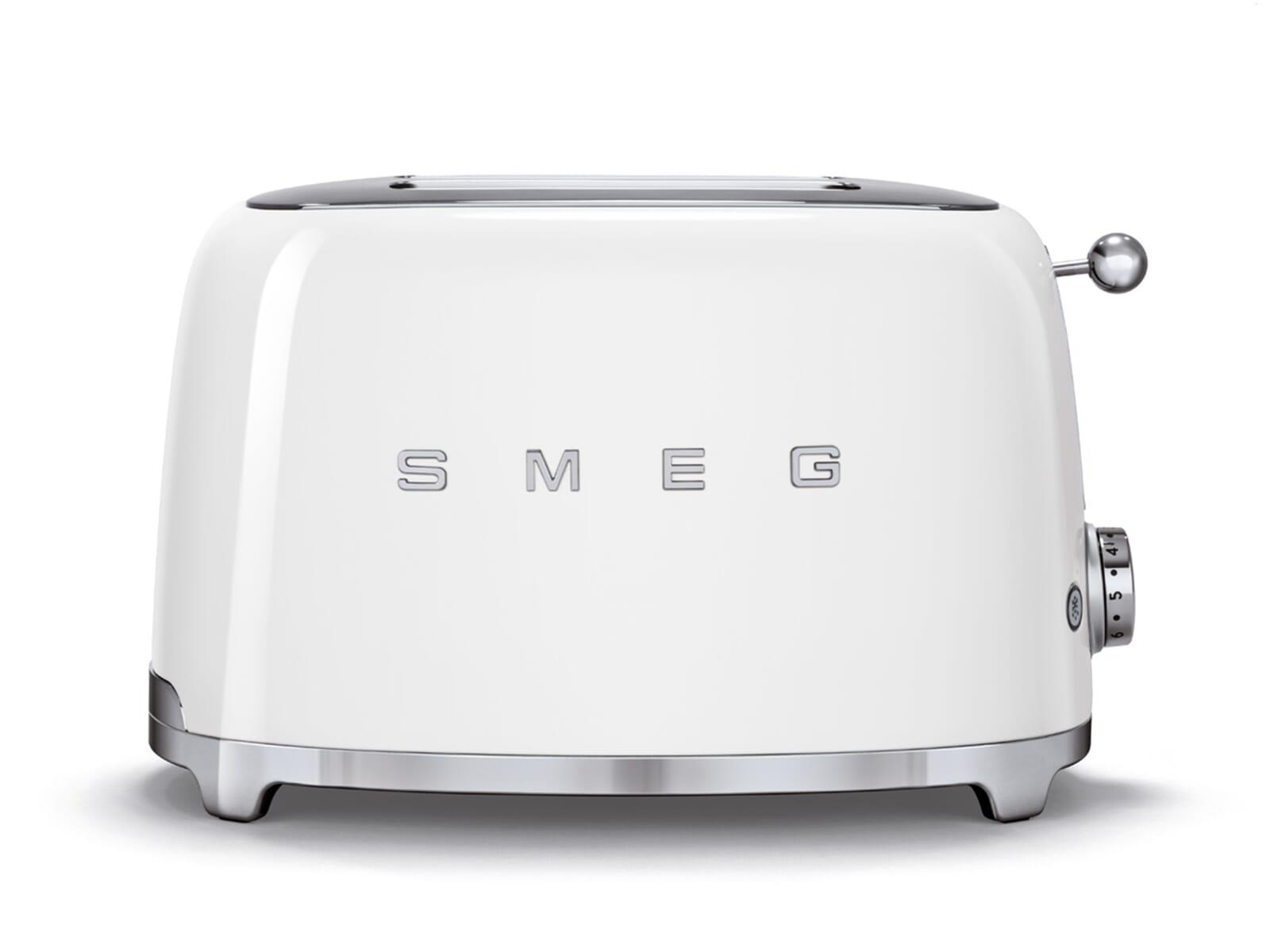 smeg tsf01wheu 2 scheiben toaster wei 50 39 s retro design k chenkleinger t ebay. Black Bedroom Furniture Sets. Home Design Ideas