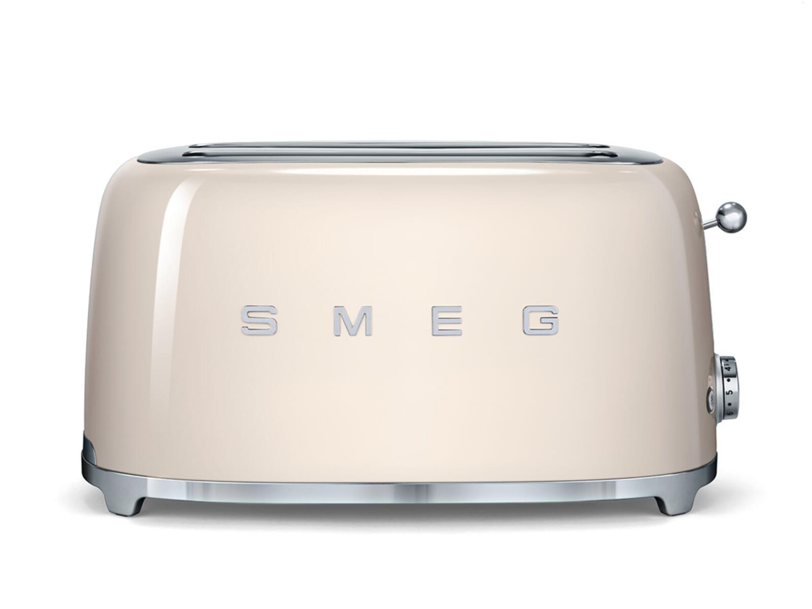 smeg tsf02creu 4 scheiben toaster creme f r 169 00 eur. Black Bedroom Furniture Sets. Home Design Ideas