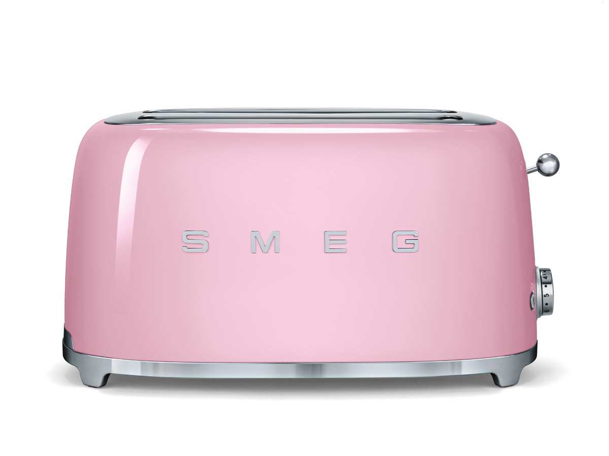 smeg tsf02pkeu 4 scheiben toaster cadillac pink br tchenr ster retrotoaster rosa ebay. Black Bedroom Furniture Sets. Home Design Ideas