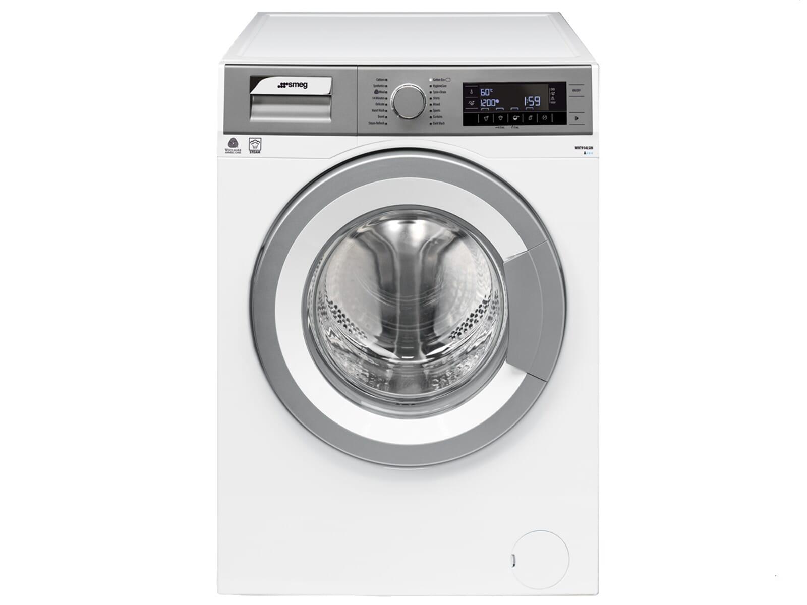 smeg wht914lsin stand waschmaschine wei wasch vollautomat frontlader a 9kg ebay. Black Bedroom Furniture Sets. Home Design Ideas