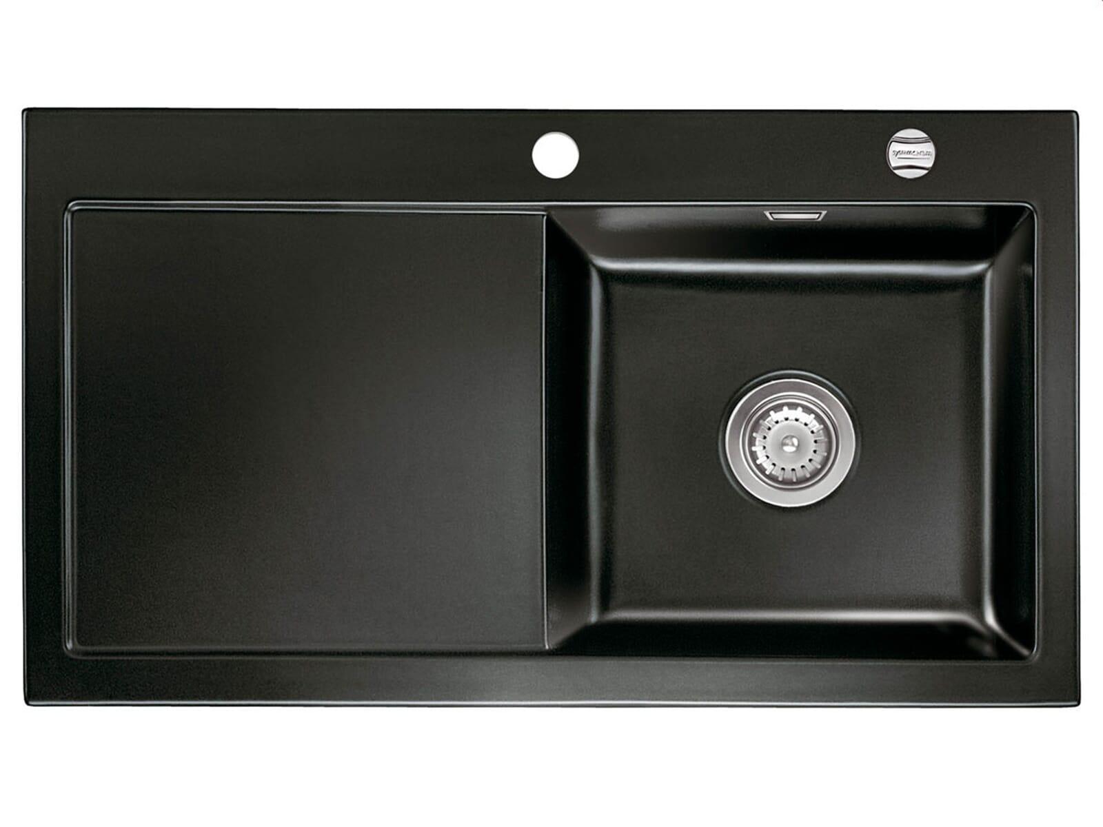 systemceram mera 90 nero keramik sp le auflagesp le schwarz sp ltisch sp lbecken ebay. Black Bedroom Furniture Sets. Home Design Ideas