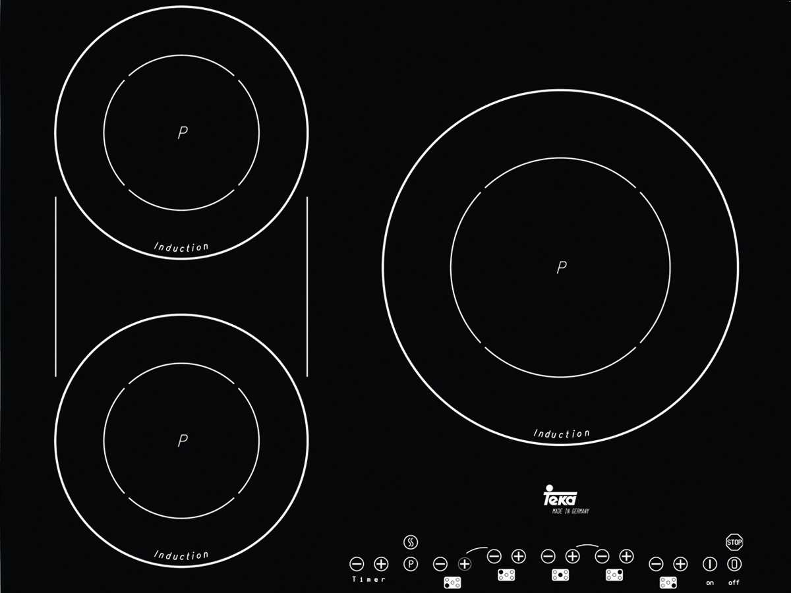teka ir 950 induktion glaskeramik kochfeld autark ebay. Black Bedroom Furniture Sets. Home Design Ideas