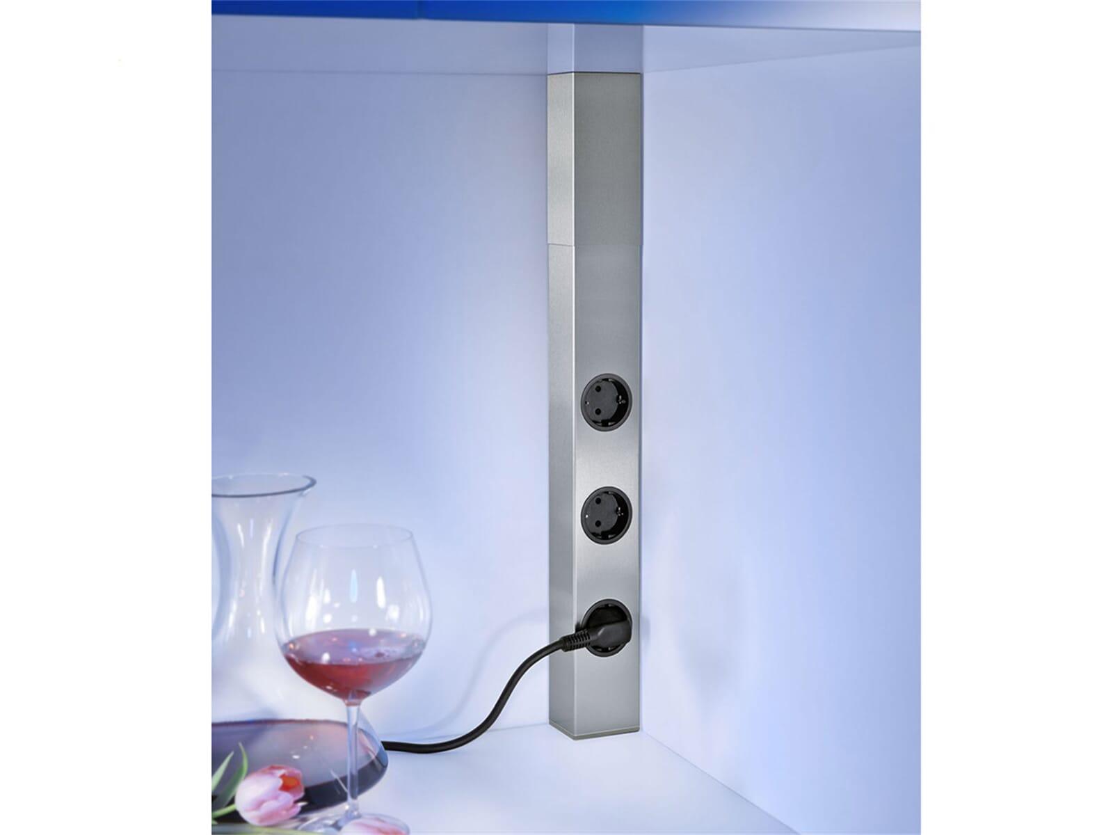 thebo st 3004 17846 steckdosenelement edelstahl f r 68. Black Bedroom Furniture Sets. Home Design Ideas