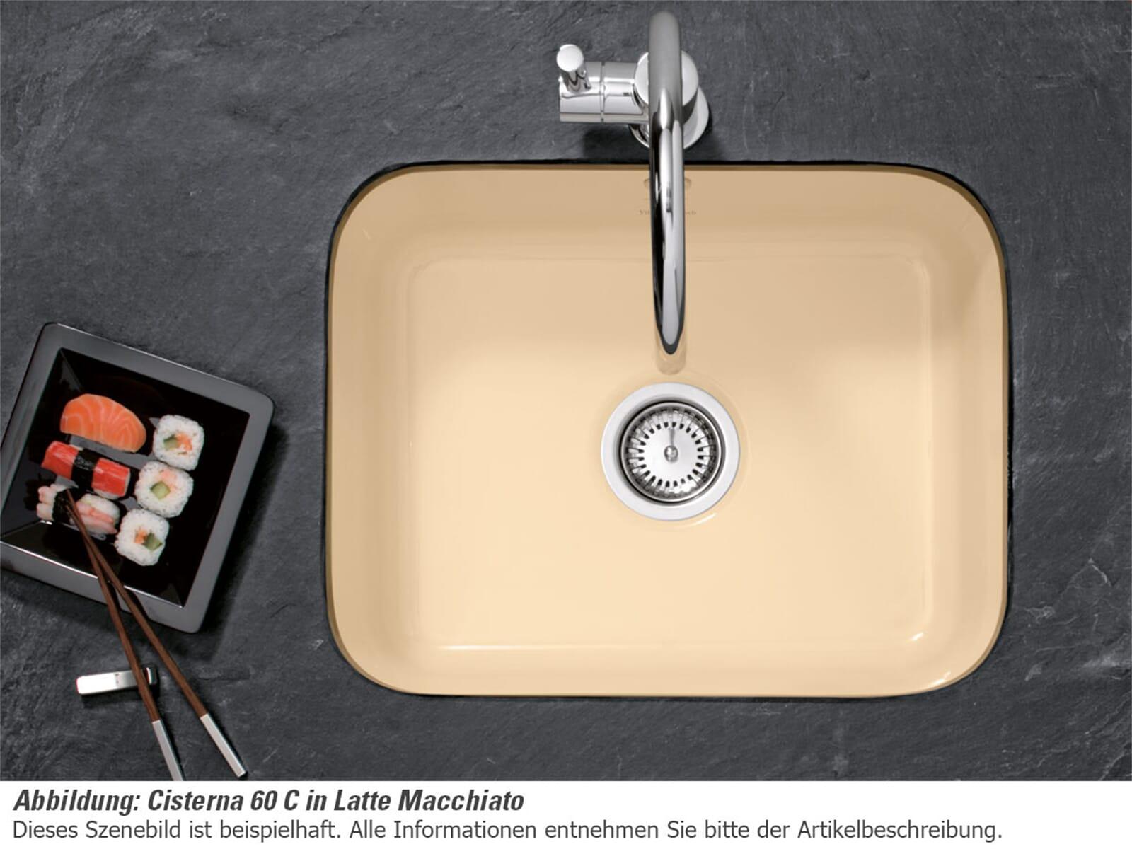 villeroy boch cisterna 60c fossil keramik sp le. Black Bedroom Furniture Sets. Home Design Ideas