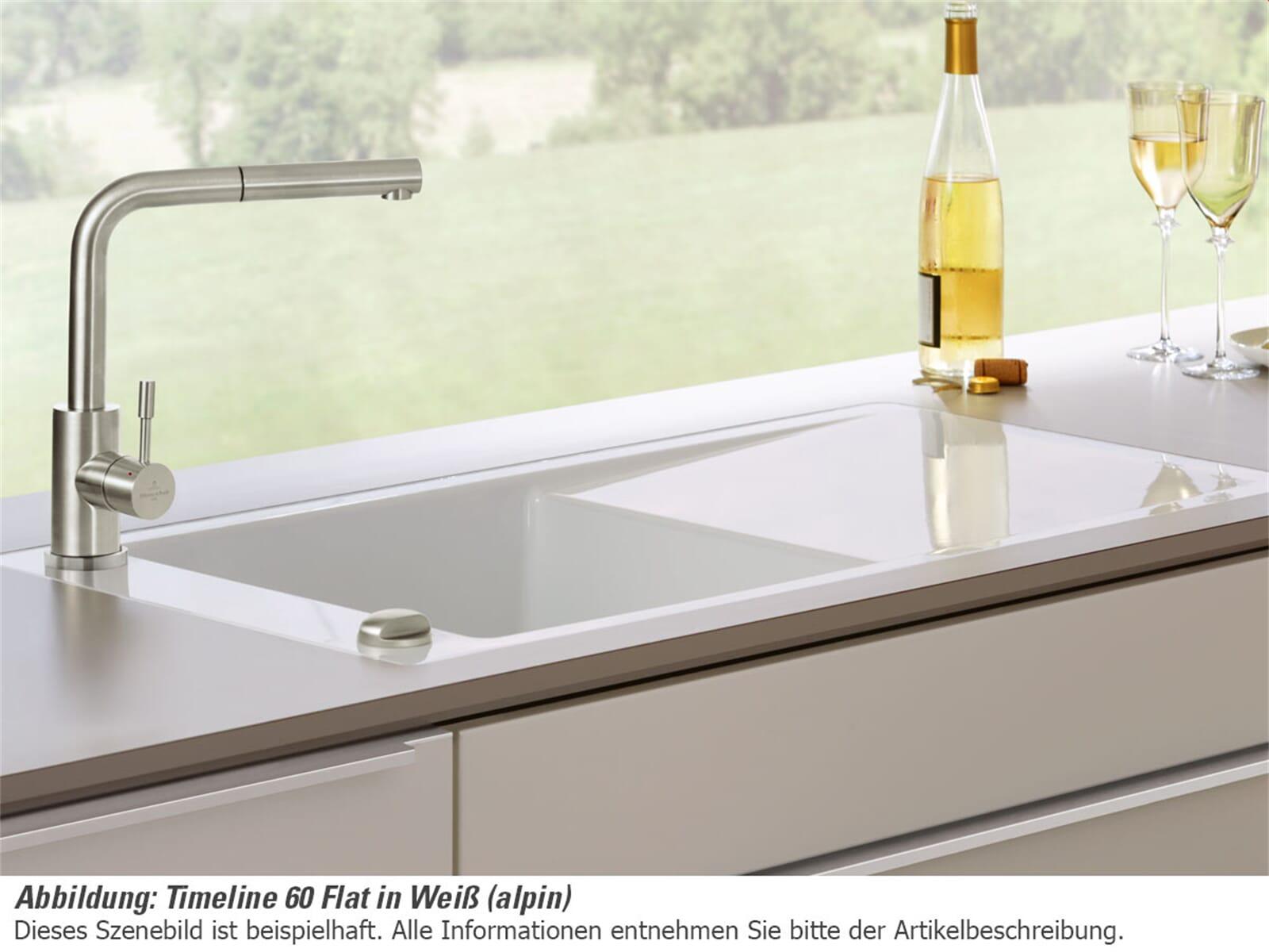 villeroy boch timeline 60 flat ivory beige fl chenb ndig keramik sp lbecken ebay. Black Bedroom Furniture Sets. Home Design Ideas