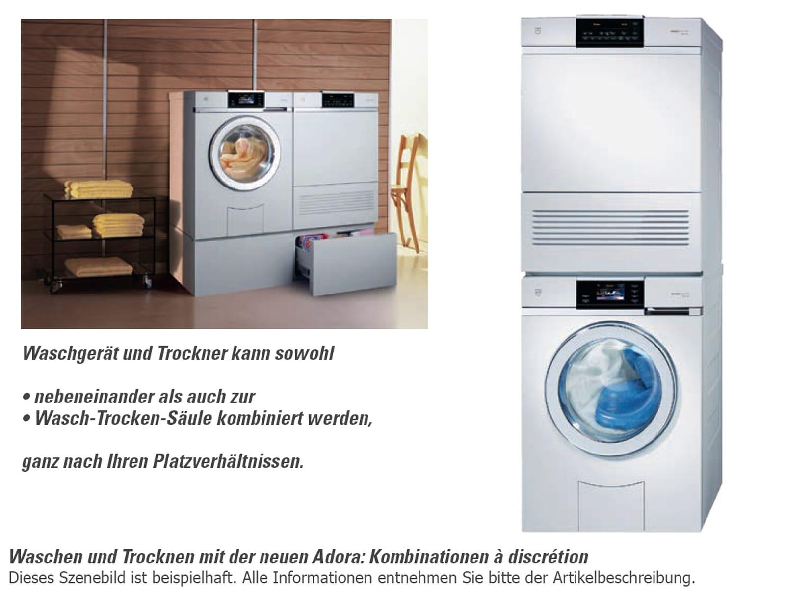 v zug adora l stand waschmaschine wei waschautomat vollautomat waschger t ebay. Black Bedroom Furniture Sets. Home Design Ideas