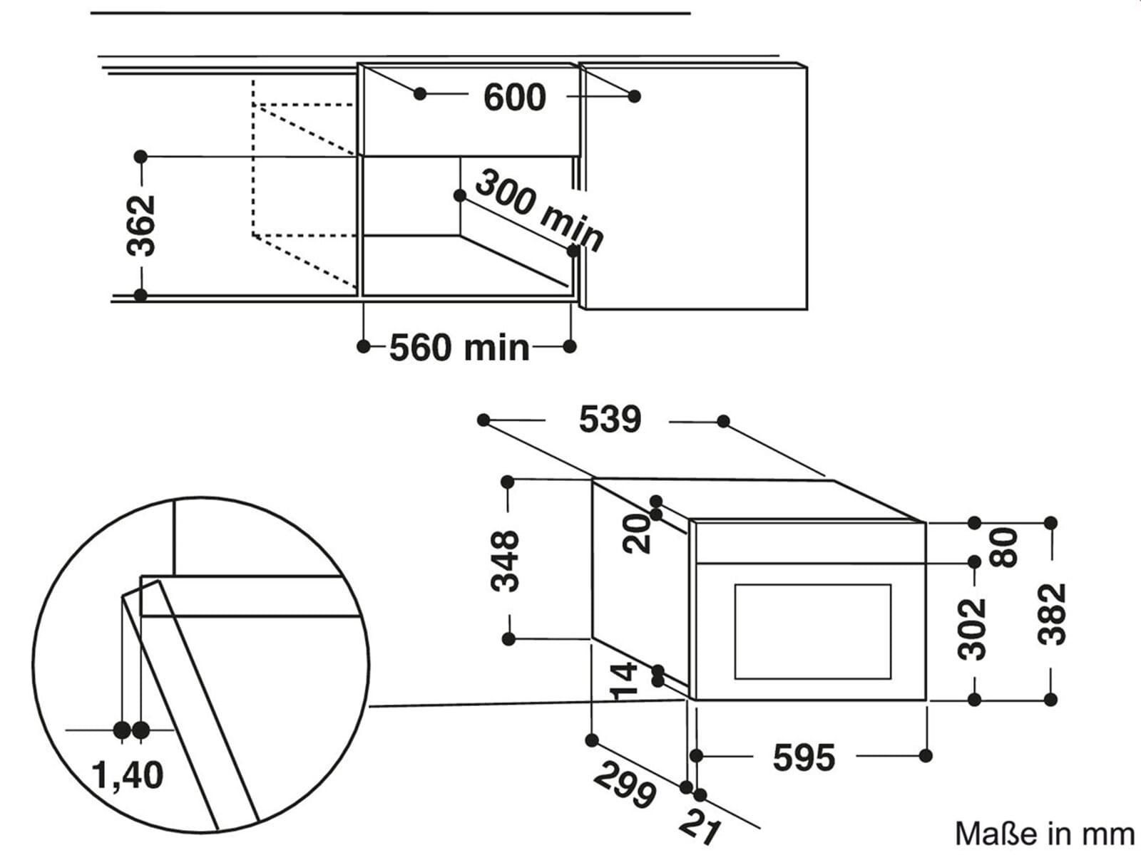 Whirlpool amw439 ix einbau mikrowelle edelstahl 38 cm - Whirlpool einbau ...
