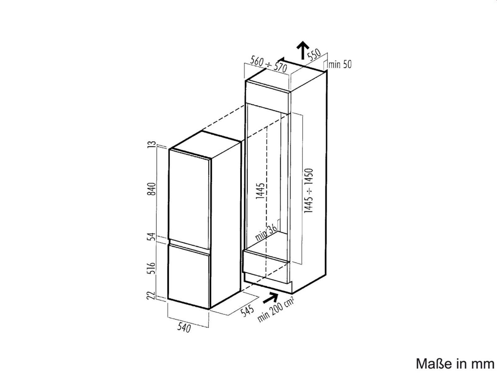 whirlpool arg 316 a einbau k hl gefrier kombination gefrierteil k hlschrank ebay. Black Bedroom Furniture Sets. Home Design Ideas