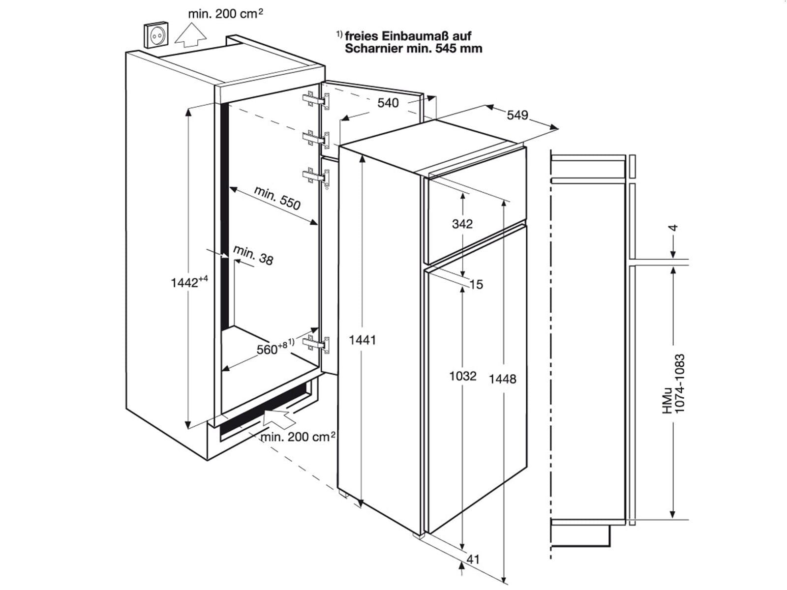 zanker kbt23001sk einbau k hl gefrierkombination k hlger t k hlkombi gefrierfach ebay. Black Bedroom Furniture Sets. Home Design Ideas