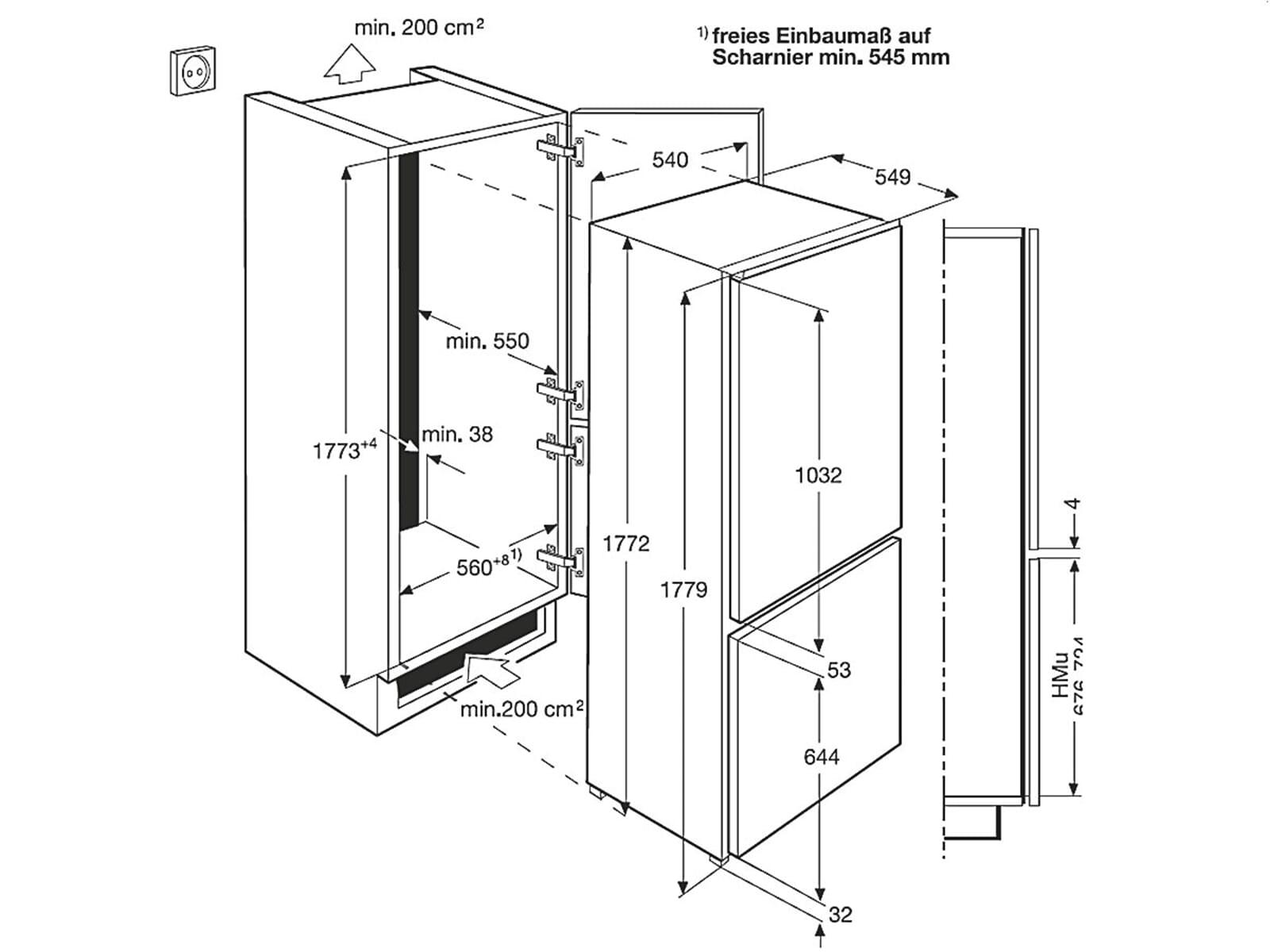 zanussi zbb28441sa einbau k hl gefrier kombination. Black Bedroom Furniture Sets. Home Design Ideas