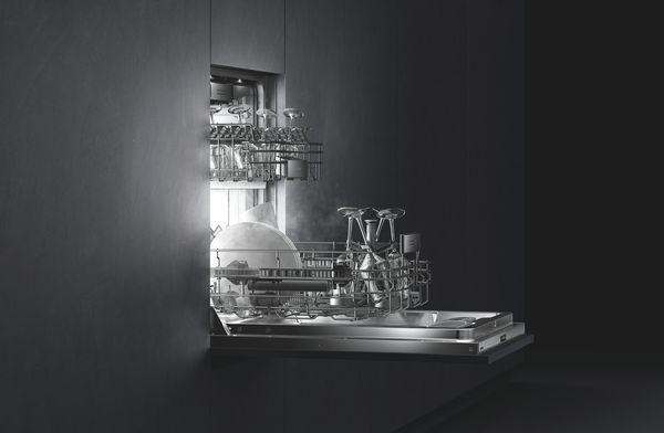 Geschirrspüler-Serie400 Korbsystem und Leichtlauffunktion