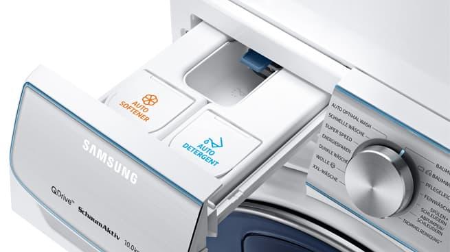 Automatische Waschmittel- und Weichspülerdosierung