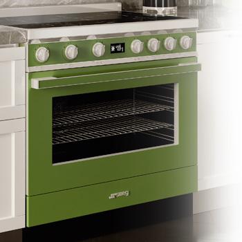 smeg standherd grün in designlinie portofino