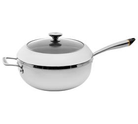 Chef`s Pot inklusive Deckel mit Bluetooth, ø 29,5 cm, mit hohem Rand 9,5 cm, Edelstahl, geeignet für Induktion von HESTAN CUE™