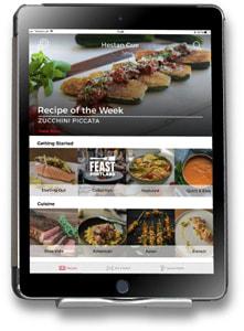 App abgebildet auf dem Tablet