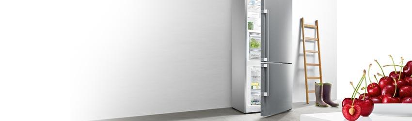 Standkühlschrank Kühl-Gefrierkombination Edelstahl freistehend