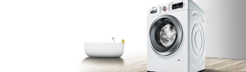 Waschmaschine weiß freistehend