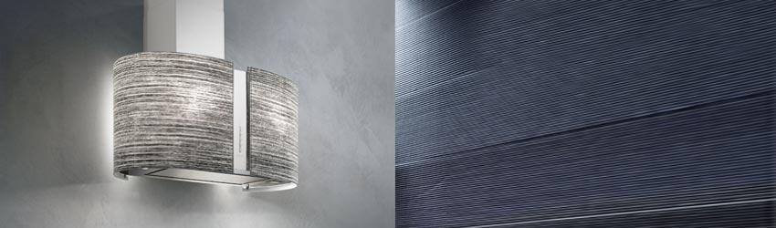 Wandhaube beleuchtet grau