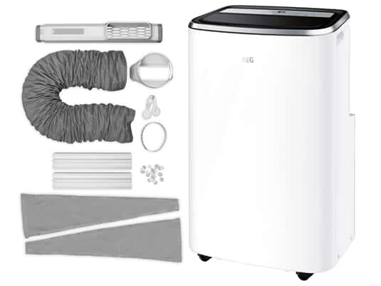 Produktabbildung AEG Klimagerät AXP35U538CW ChillFlex Pro + Premium-Fenster-Kit AWK04