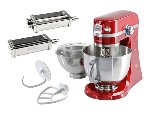 Produktabbildung AEG KM54WR UltraMix Küchenmaschine Watermelon Red + AUMPR Nudelroller + AUMPSC Spaghettischneider