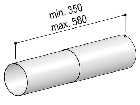 Produktabbildung Berbel Rundrohr System 125 - Teleskop-Rundrohr