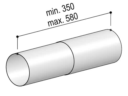 Produktabbildung Berbel Rundrohr System 150 - Teleskop-Rundrohr