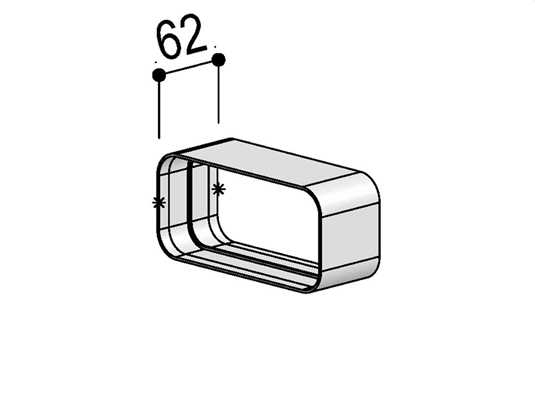 Produktabbildung berbel Muffe 125 flach