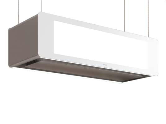 Produktabbildung Berbel Skyline Set BDL 95 SK Deckenlifthaube Weiß + BDL 95 WG Deckenanschluss Weiß