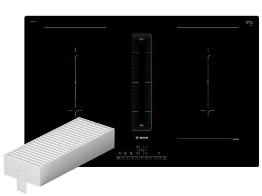 Produktabbildung Bosch PVQ811A70 Induktionskochfeld-Dunstabzug-Kombination PVQ811F15E +  Installationszubehör