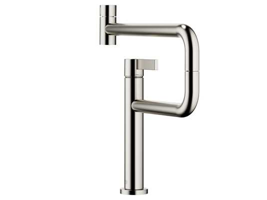 Produktabbildung Dornbracht Tara Ultra Pivot Platin Matt 33 845 875-06 Hochdruckarmatur
