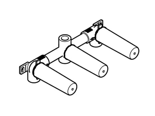 Produktabbildung Dornbracht UP-Wandbatterie 35 707 970 90 Auslauf mittig