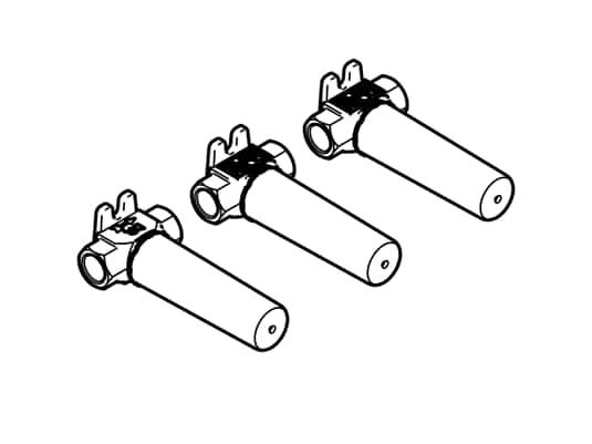 Produktabbildung Dornbracht UP-Wandbatterie 35 712 970 90 Variable Positionierung