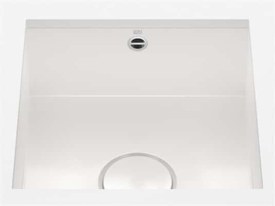 Produktabbildung Dornbracht Unterbau-Spüle Glasierter Stahl Weiß Glänzend 38400002-73