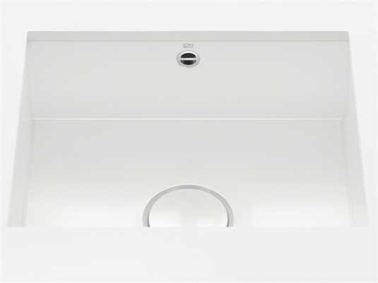 Produktabbildung Dornbracht Unterbau-Spüle Glasierter Stahl Weiß Glänzend 38500002-73