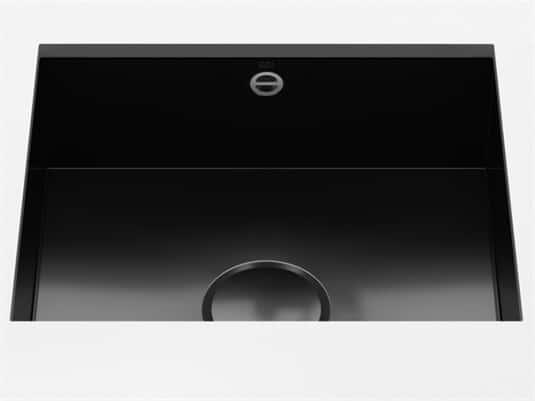 Produktabbildung Dornbracht Unterbau-Spüle Glasierter Stahl Schwarz Glänzend 38500002-76