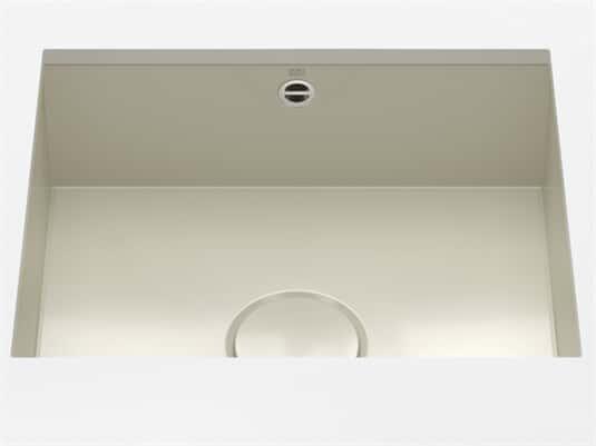 Produktabbildung Dornbracht Unterbau-Spüle Glasierter Stahl Sand Glänzend 38500002-78