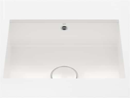 Produktabbildung Dornbracht Unterbau-Spüle Glasierter Stahl Weiß Glänzend 38550002-73