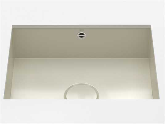 Produktabbildung Dornbracht Unterbau-Spüle Glasierter Stahl Sand Glänzend 38550002-78