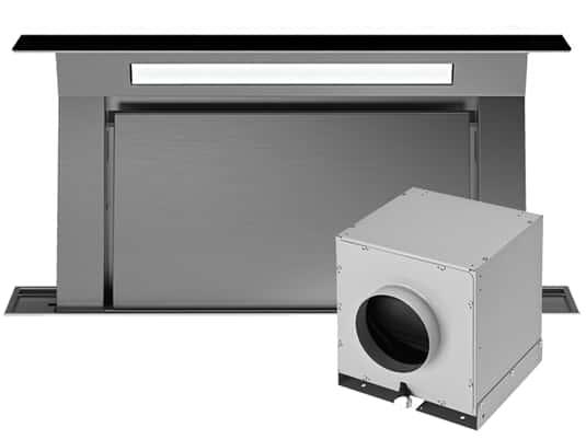 Produktabbildung Falmec Downdraft 120 Tischhaube Schwarz inkl. Motor