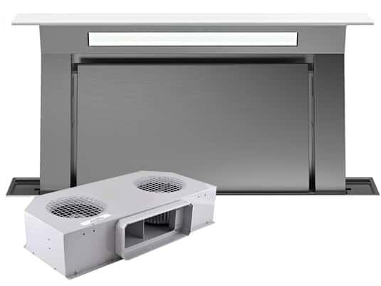 Produktabbildung Falmec Downdraft Tisch Dunstabzugshaube Weiß inkl. Motor