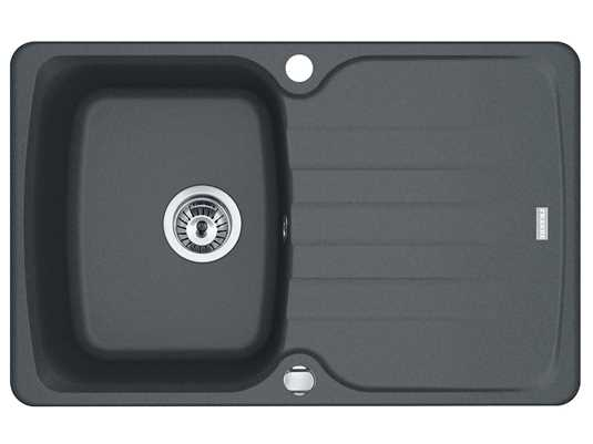 Produktabbildung Franke Antea AZG 611-78 Graphit - 114.0512.139 Granitspüle Exzenterbetätigung