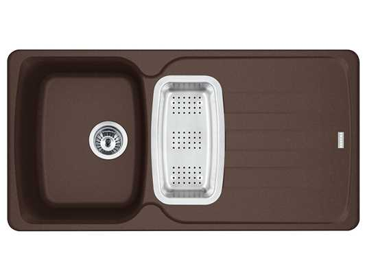 Franke Antea AZG 651 Chocolate - 114.0477.964 Granitspüle Exzenterbetätigung